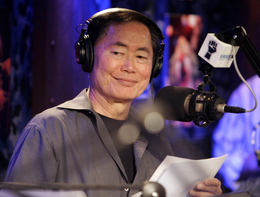"George Takei, who played Sulu on the popular television show and movie series ""Star Trek,"" appearing on Howard Stern's Sirius Satellite Radio program in New York on Jan. 9, 2006."