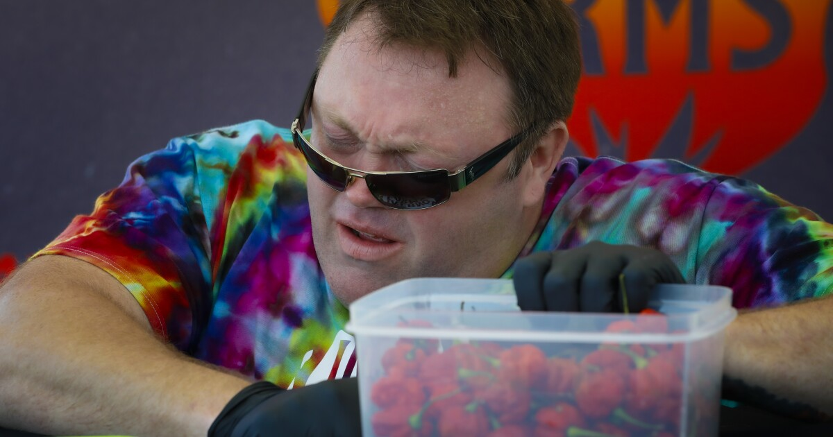 San Diego pepper enthusiast eats 44 Carolina Reapers, the world's hottest chilis