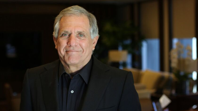 Leslie Moonves in his office at the CBS Studios in Studio City.