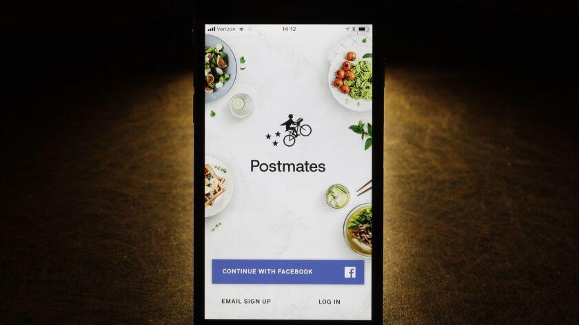 The Postmates app.