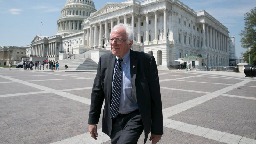 Single-payer crusader: Sen. Bernie Sanders (I-Vt.) has been in the forefront of a Medicare-for-all health coverage model.