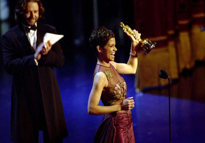 At the 2002 Oscars, Halle Berry showed grace, emotion and passion as the first African American woman to win a lead actress Oscar.