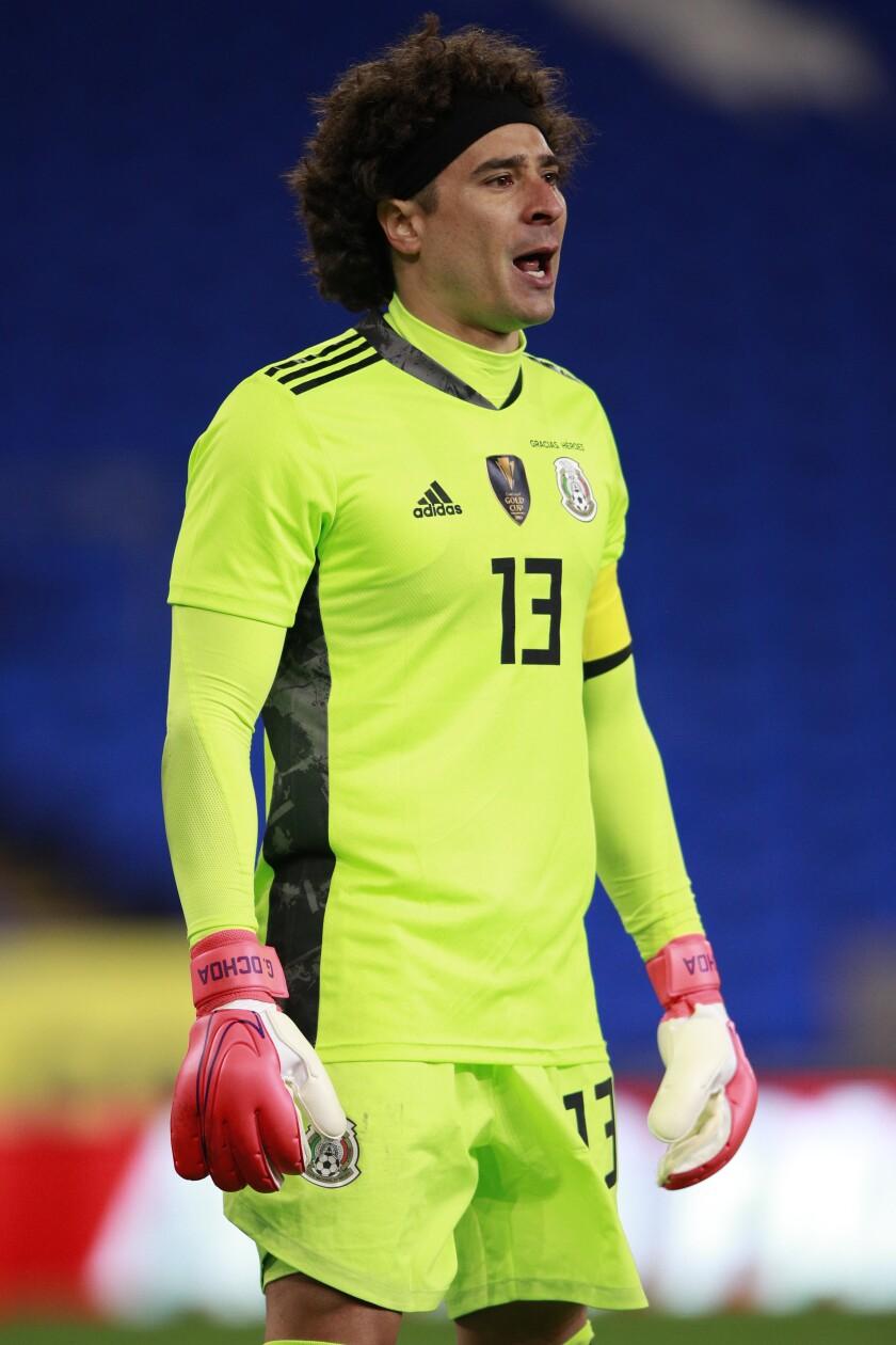 Mexico's goalkeeper Guillermo Ochoa