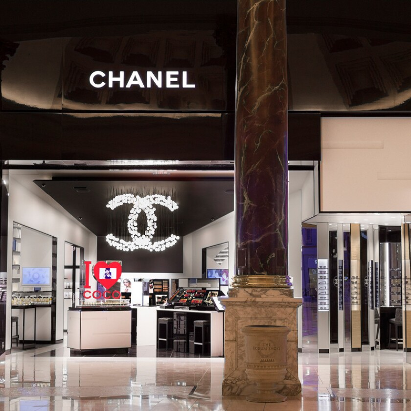 Chanel's first beauty boutique in the United States is now open at the Forum Shops at Caesars.