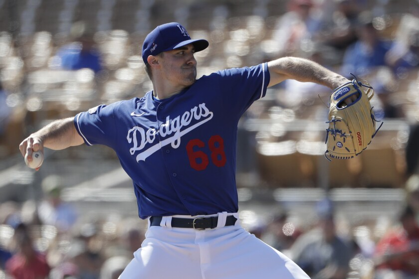 Dodgers pitcher Ross Stripling delivers against the White Sox.
