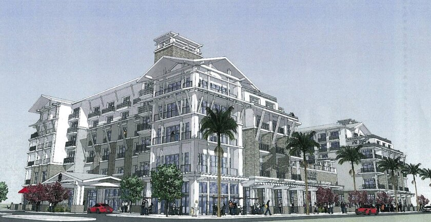 Rendering of a proposed luxury resort that could be built in Oceanside.