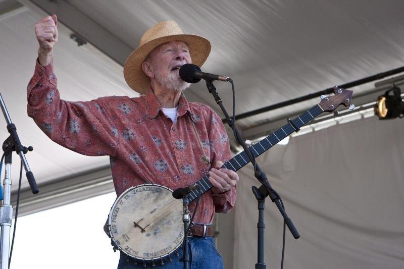 U.S. folk singer and activist Pete Seeger. EFE/File