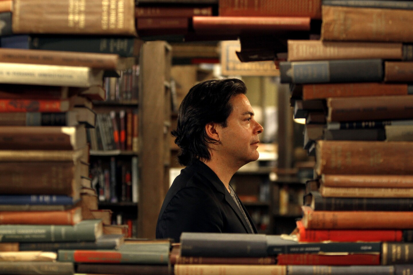 Independent producer Lawrence Grey at The Last Bookstore in Los Angeles.