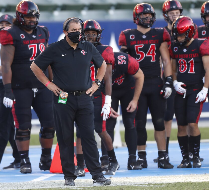 San Diego State head coach Brady Hoke is faced with an uncertain quarterback situation again this week.