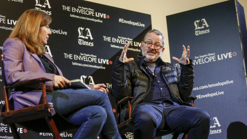 """LA Times Envelope Live - """"Won't You Be My Neighbor?"""" Director Morgan Neville at a Q&A moderated by L"""