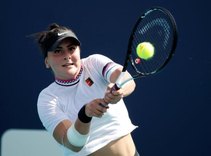 En la imagen, la tenista canadiense Bianca Andreescu. EFE/Jason Szenes/Archivo