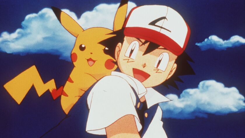 """CA.Pokemon2.2.0424.ad––Pikachu and Ash in """"Pokemon the Movie 2000,"""" distributed by Warner Bros. Pict"""