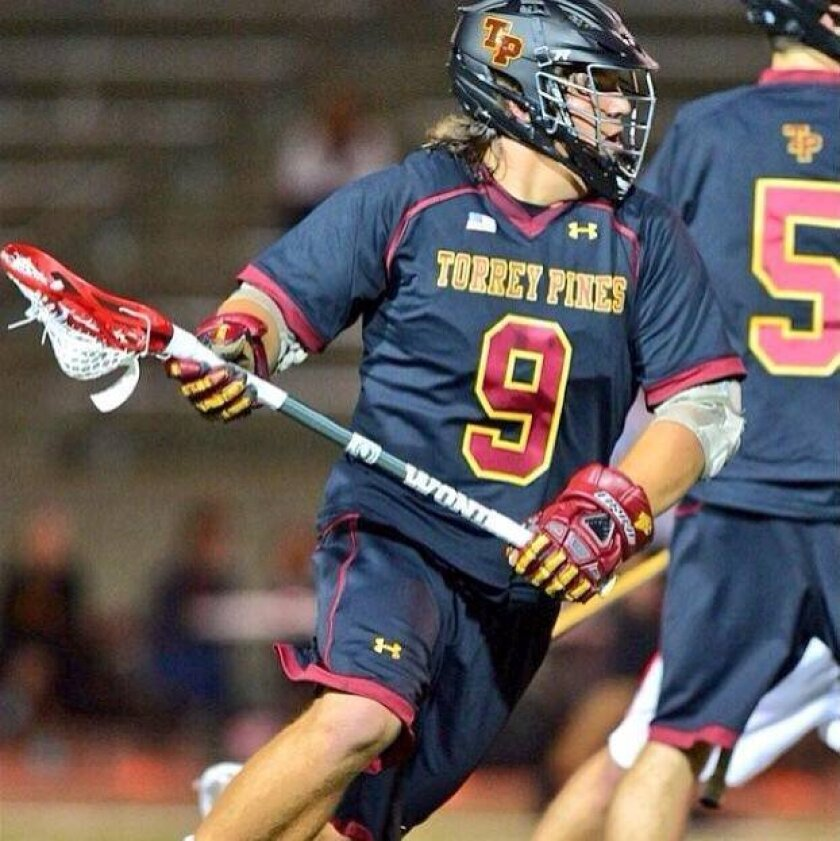 Henry Hollen's talent as a midfielder was spotted by Lacrosse Magazine, which noted that he was instrumental during three recent wins for Torrey Pines. He recently committed to play for Tufts University.