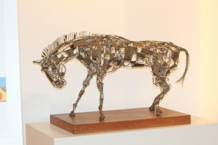 Welded steel and brass horse by the late La Jolla architect Russell Forester (c. 1958). Collection of Lynn Forester.