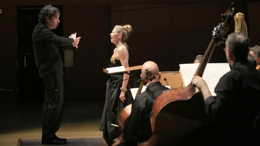 Gustavo Dudamel conducts the Green Umbrella program with mezzo-soprano Charlotte Hellekant.