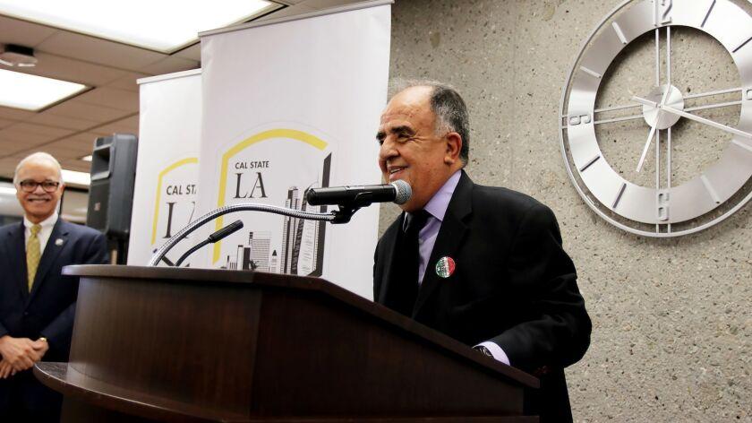 Raul Ruiz speaks at Cal State Los Angeles in 2018