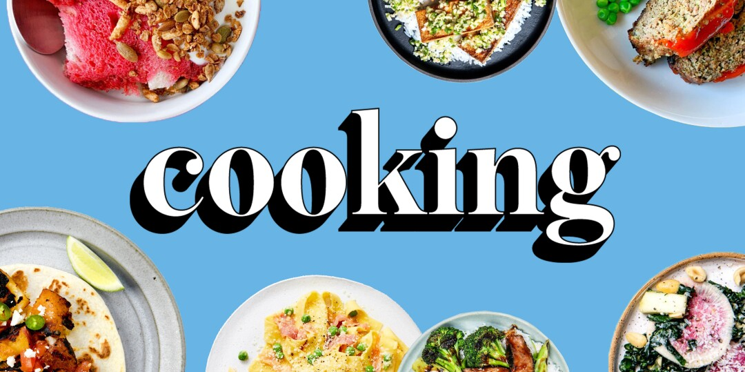 Cooking newsletter sign up page