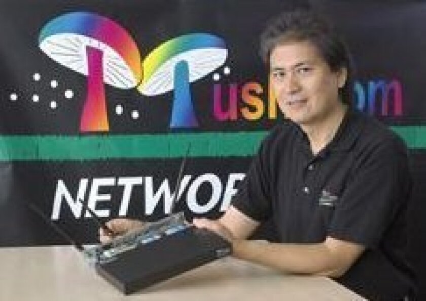Rene Cruz, a professor of electrical and computer engineering, co-founded Mushroom Networks.