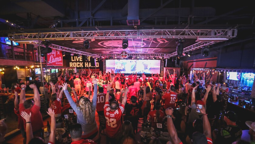 Catch Super Bowl LIV at Moonshine Beach, the official home of San Francisco 49ers football.