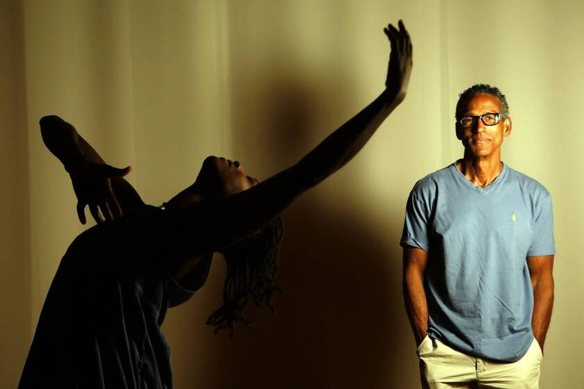 Choreographer David Roussève, whose Reality troupe will perform at Radar L.A., is known for his dance-theater hybrids. Here he's with dancer Taisha Paggett.