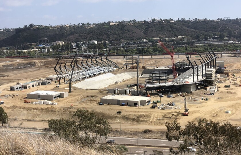 San Diego State's new football stadium is scheduled to open in 2022.