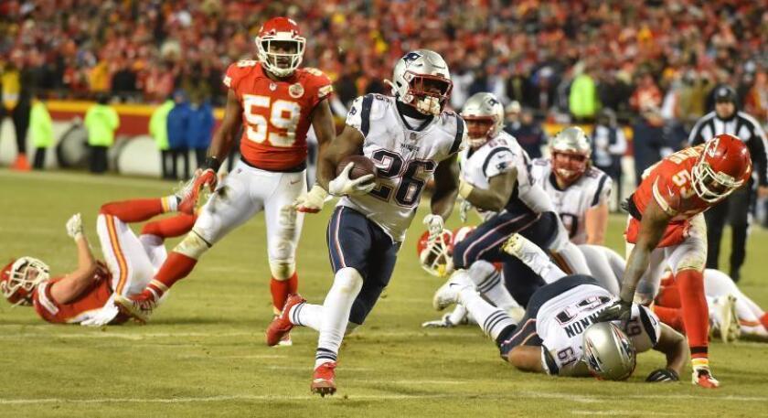 Imagen del partido disputado entre New England Patriots y Kansas City Chiefs, en el Arrowhead Stadium de Kansas City. EFE