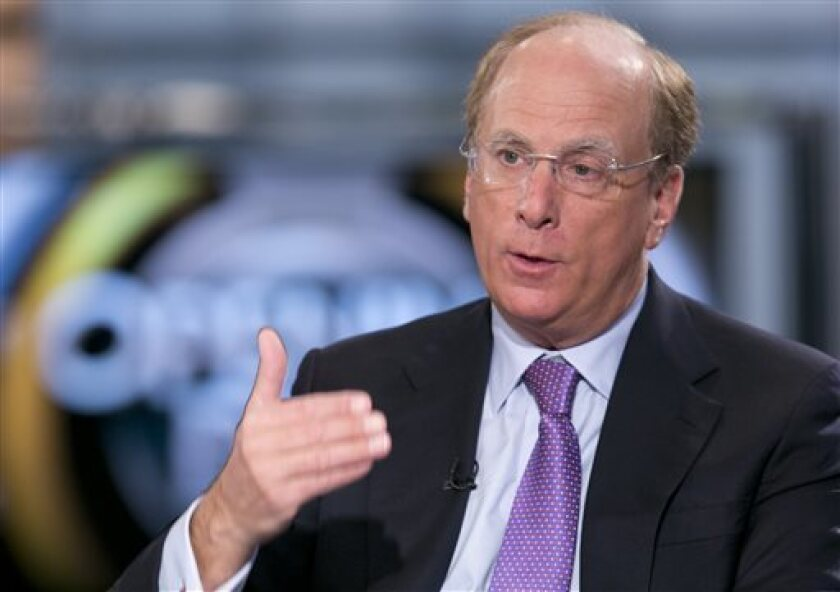 """BlackRock Chairman and CEO Laurence Fink, shown on Fox Business Network, said in his annual letter to corporate executives that """"our investment conviction is that sustainability- and climate-integrated portfolios can provide better risk-adjusted returns to investors."""""""