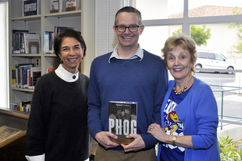 RSF Library Guild Executive Director Susan Appleby, Author Scott Morrow Johnson, Fran Johnson