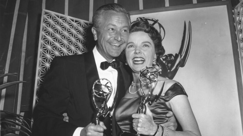Emmy winners Robert Young and Jane Wyatt.