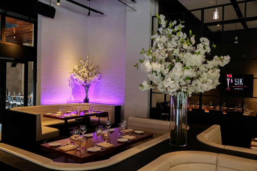 STK San Diego's glamorous dining room is a apt showcase for its cuisine.
