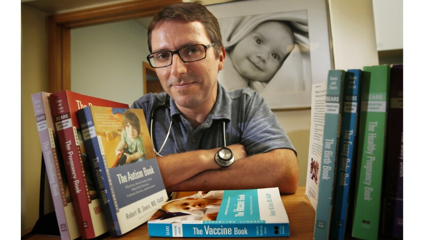 Dr. Robert Sears is a celebrity among parents worried about vaccines.