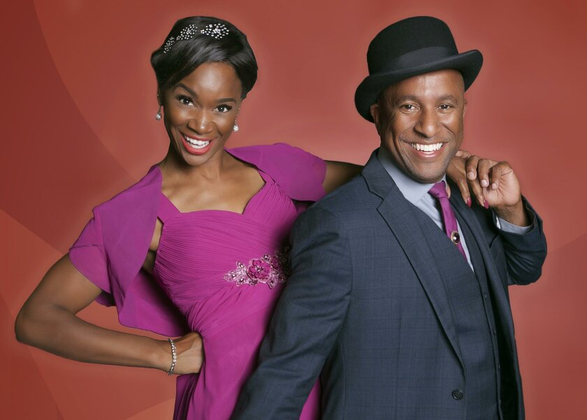 Yvonne and Ron Christopher Jones star in 'Ain't Misbehavin — the Fats Waller Musical Show,' at North Coast Repertory Theatre through Aug. 7.