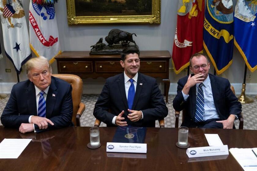 """El presidente, Donald Trump, aseguró hoy que """"está dispuesto a cualquier cosa"""" para obtener los fondos que ha solicitado para seguridad fronteriza, y no descartó la posibilidad de forzar un cierre parcial administrativo del Gobierno federal. EFE/POOL"""