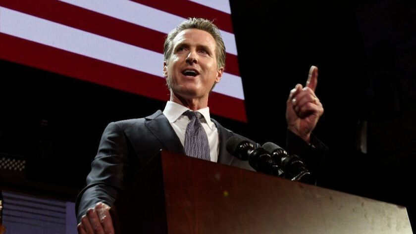 Democratic Gubernatorial Candidate Gavin Newsom Holds Election Night Event In LA