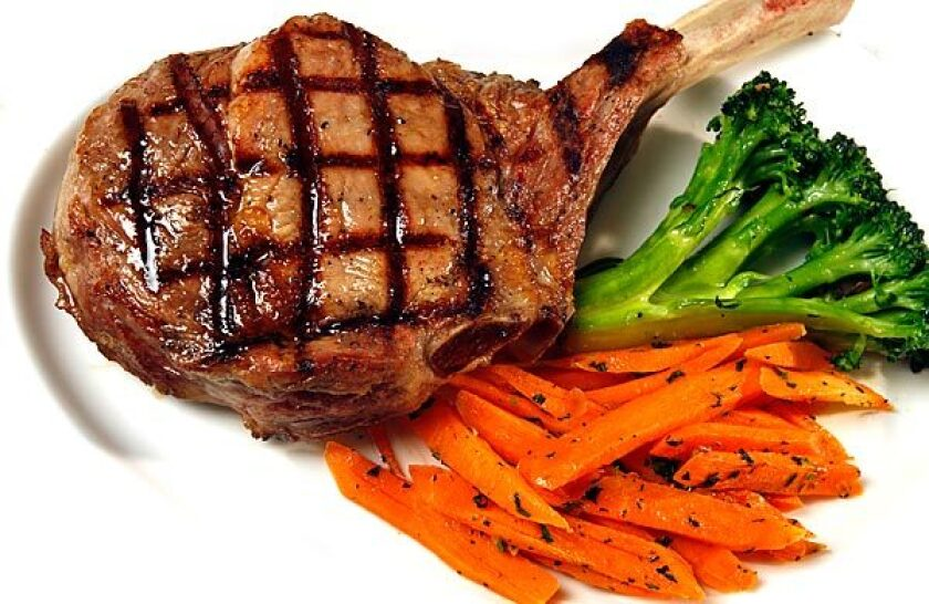 Grilled meats such as the veal chop can be a good choice at Craig's.