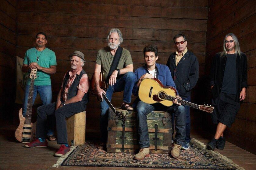 Dead & Company (from left) Oteil Burbridge, Bill Kreutzmann, Bob Weir, John Mayer, Mickey Hart and Jeff Chimenti.