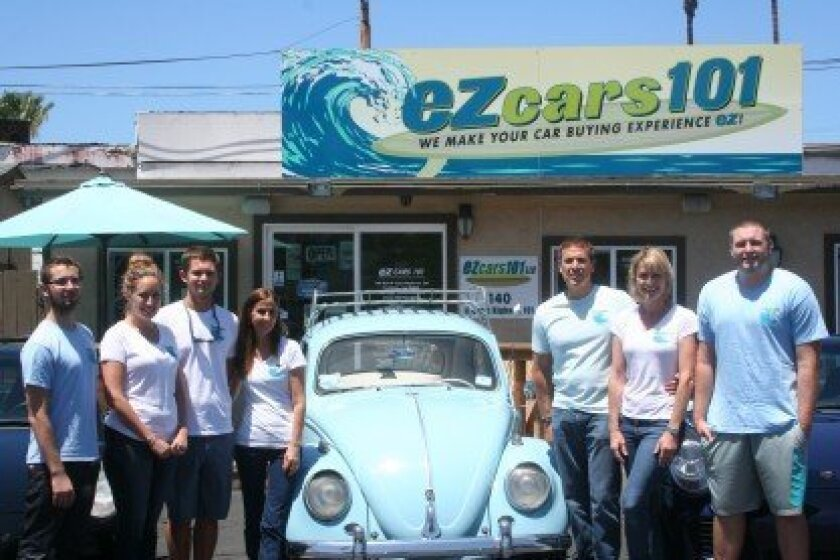 The team at EZ Cars 101. Photo by Kristina Houck