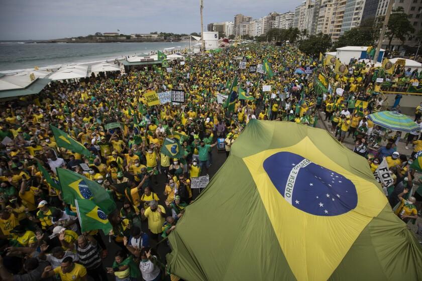 Rally in support of Brazilian President Jair Bolsonaro