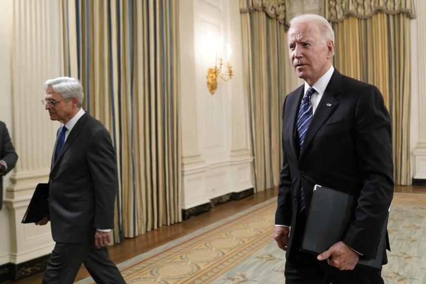 President Biden and Atty. Gen. Merrick Garland at the White House