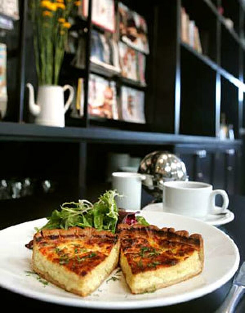 COMME ÇA: You can opt for a rich quiche with Gruyère or go lighter with the house-dried-raisin bread and baguette.