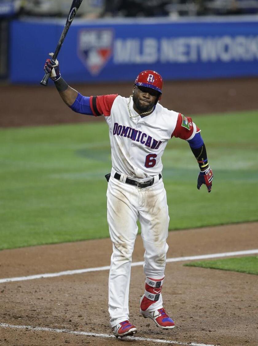 El jugador dominicano Starling Marte (c). EFE/Archivo