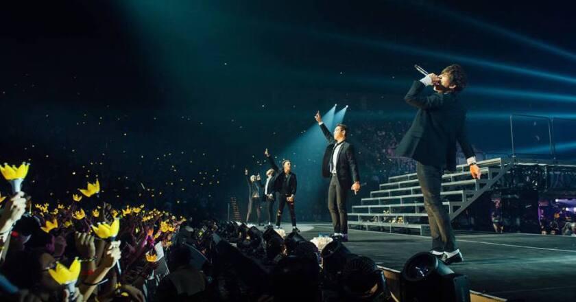 BigBang performing in Las Vegas.