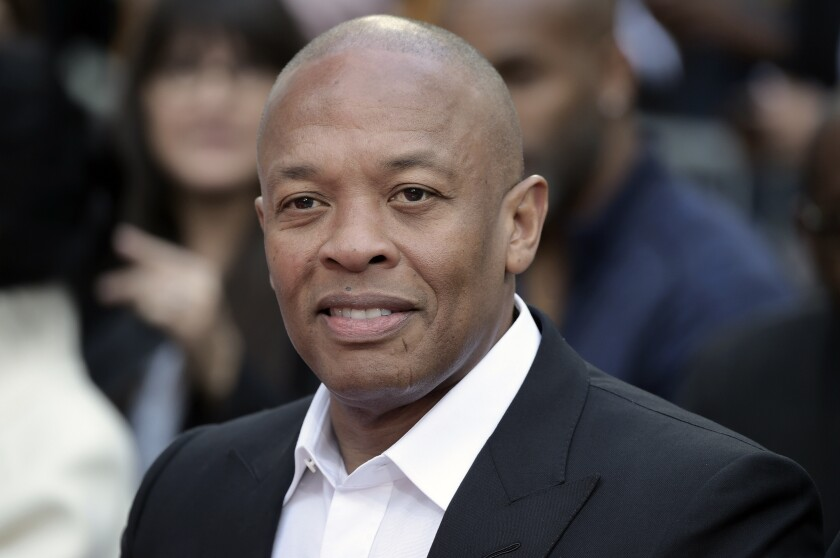 Dr. Dre attending a ceremony honoring Quincy Jones in Los Angeles in 2018