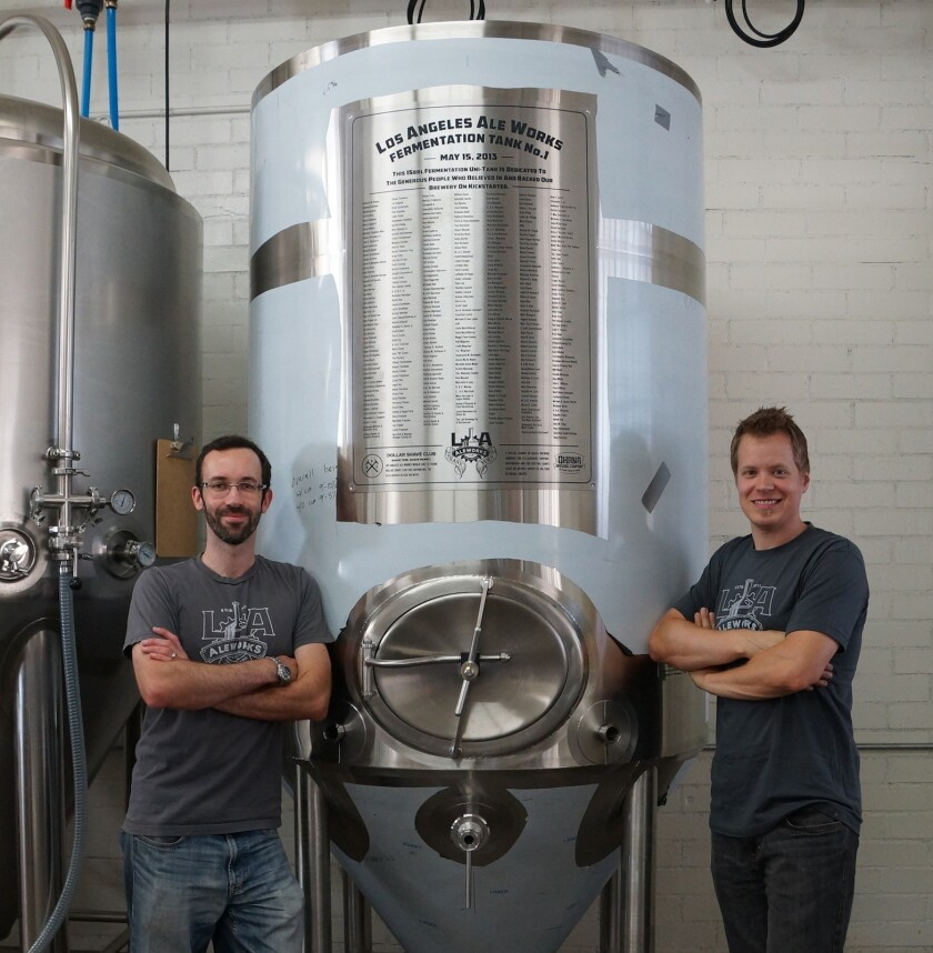 L.A. Ale Works' Jon Rockwell and Kristophor Barnes