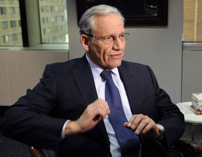 "Bob Woodward speaks during an exclusive interview on ABC's ""World News with Diane Sawyer"" about his book, ""The Price of Politics"" in New York."