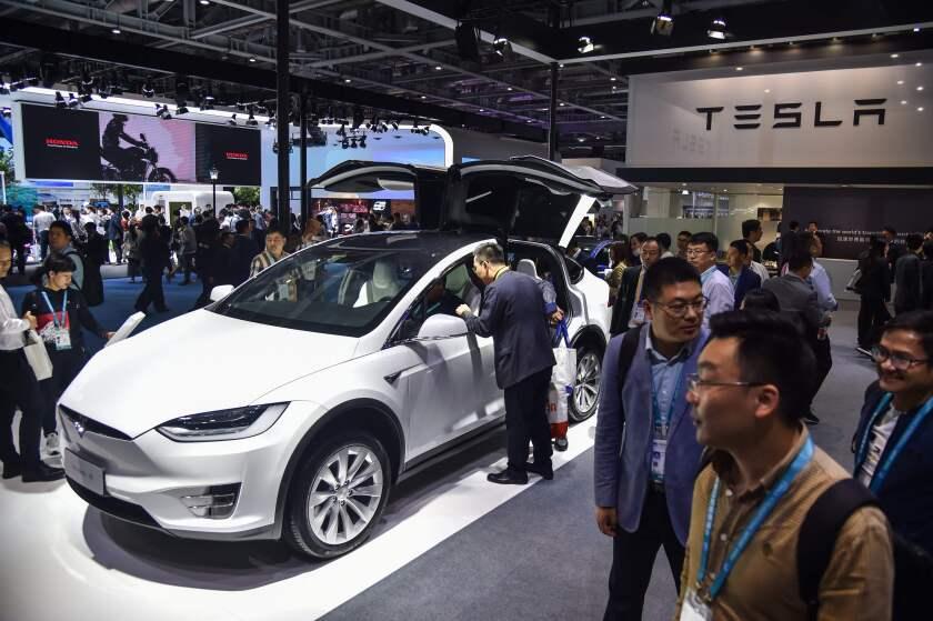 Tesla China International Import Expo Shanghai
