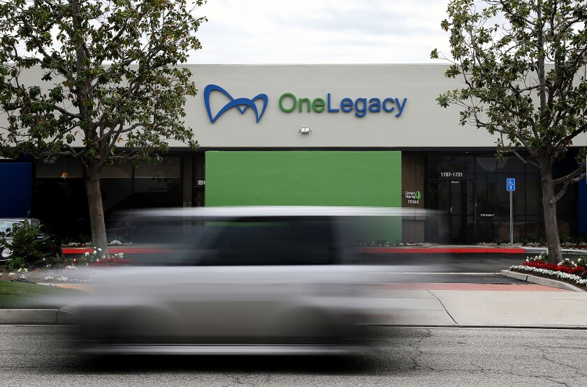 OneLegacy's transplant recovery center in Redlands.
