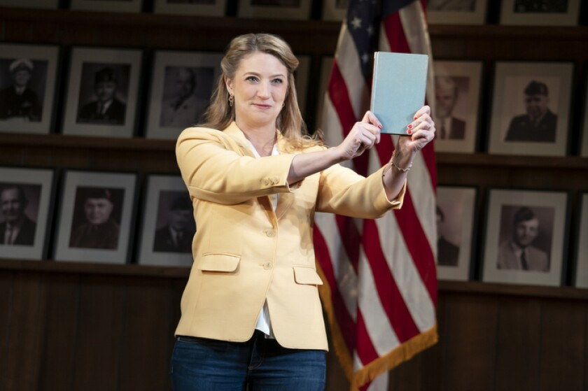 """Heidi Schreck in a scene from """"What the Conststution Means to Me."""""""