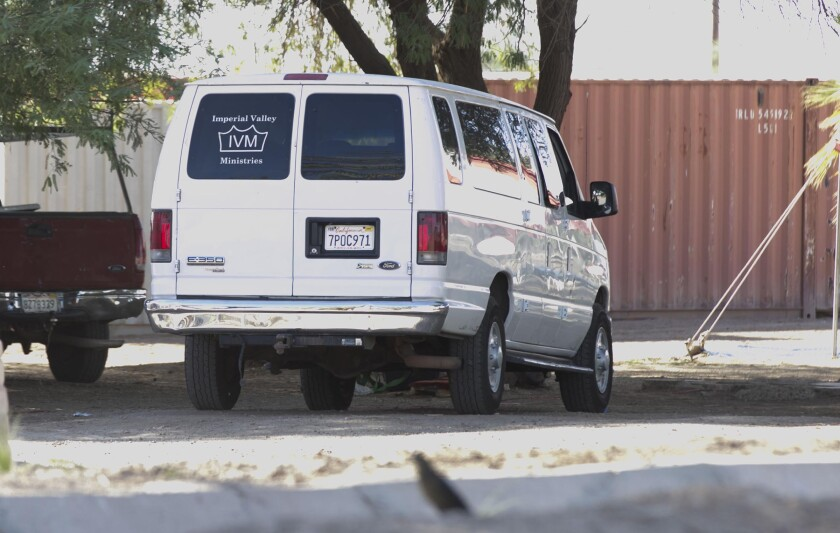 Una camioneta de Imperial Valley Ministries
