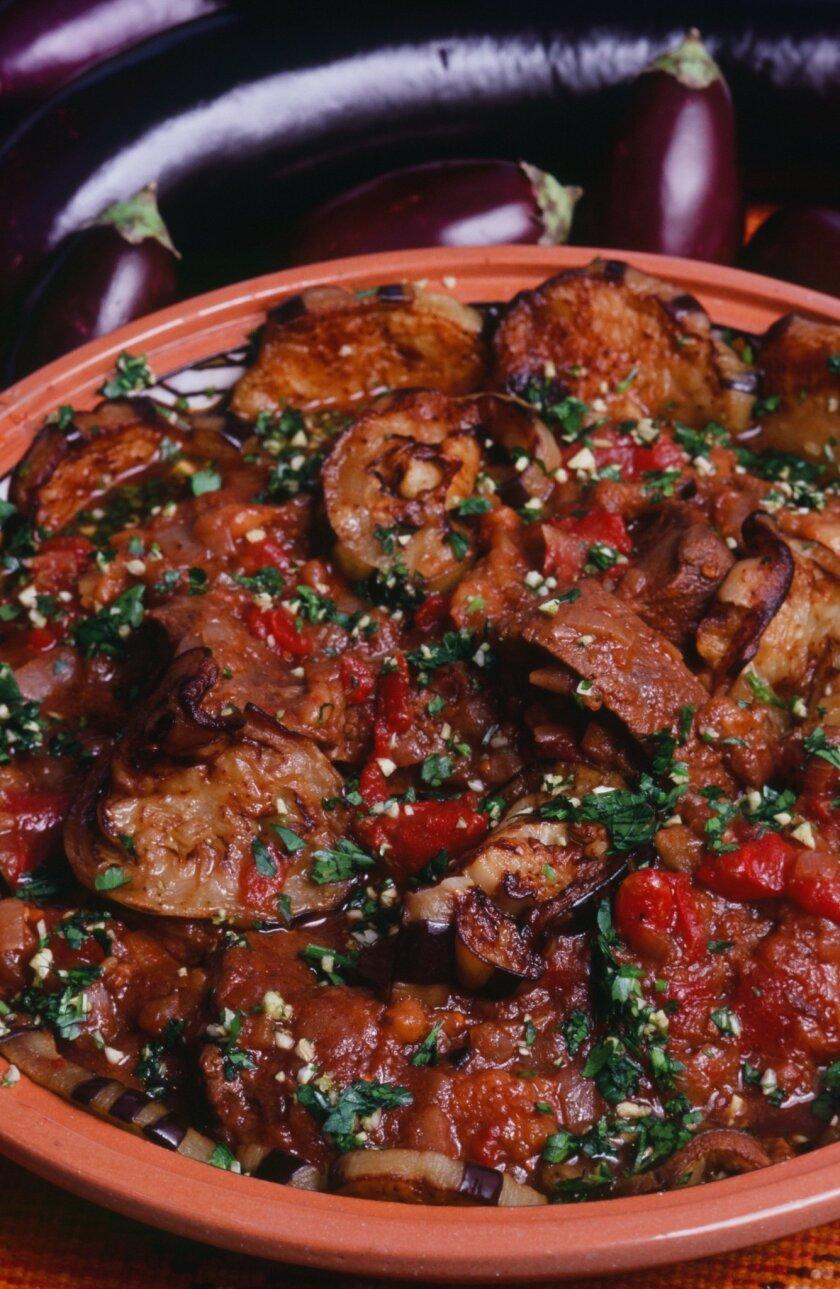 """Tagine Baraniya, a Moroccan recipe in Kitty Morse's latest memoir/cookbook """"Mint Tea and Minarets."""" CREDIT: Owen Morse"""